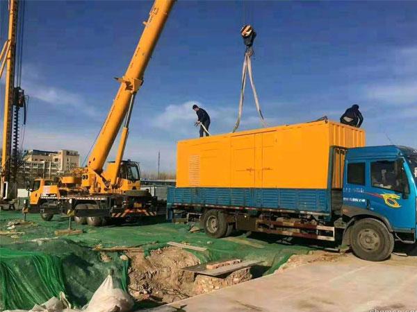济宁万科工程建设租赁一台大型静音发电